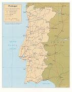 Mapa de Portugal incluindo o território perdido de Olivença (portugal map)