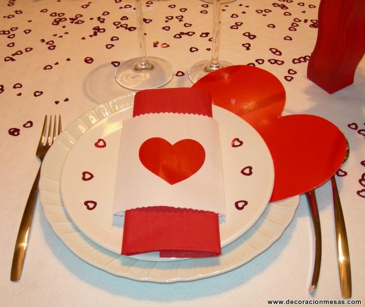 Decoracion de mesas mesa de san valentin for Decoracion mesa san valentin