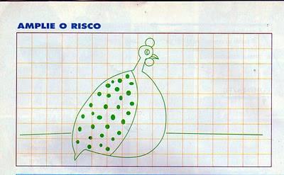 RISCO DE GALINHA D'ANGOLA PARA PINTURA
