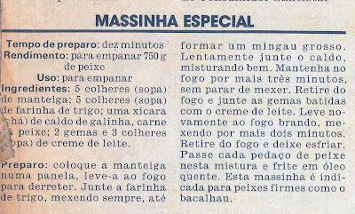 RECEITA DE MASSINHA ESPECIAL PARA EMPANAR