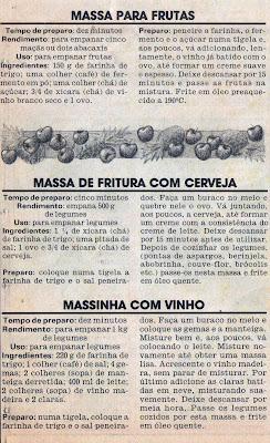 RECEITA DE MASSA PARA EMPANAR FRUTAS, MASSA DE FRITURA COM CERVEJA E MASSINHA COM VINHO