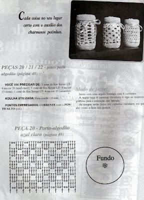 RECEITA DE COMO FORRAR VIDROS COM CROCHE