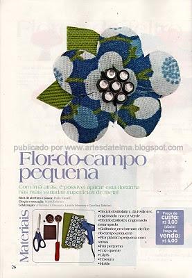 FLOR DO CAMPO EM TECIDO