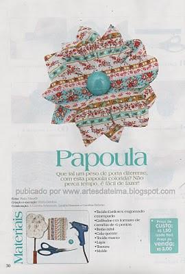 PAPOULA DE TECIDO