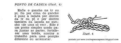 PONTO DE CADEIA EM CROCHE PASSO A PASSO