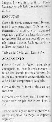 RECEITA DE PANO EM CROCHE