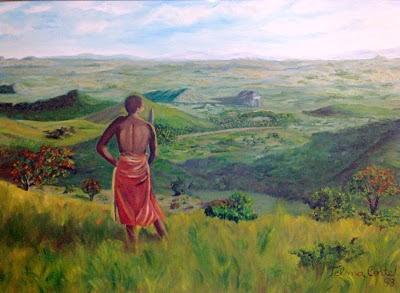 OLEO SOBRE TELA DE TELMA CORTE:AFRICA