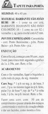 TAPETE DE CROCHE FILE COM CORAÇÃO