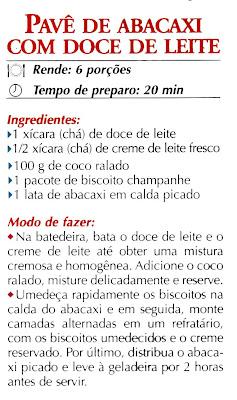 RECEITA DE PAVE DE ABACAXI