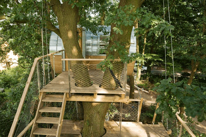 Tree House Plans For Two Trees more amazing arboreal architecture. baumraum tree houses part ii