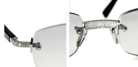 Black Frame Glasses With Diamonds : If Its Hip, Its Here (Archives): Shades Of Modern Luxury ...