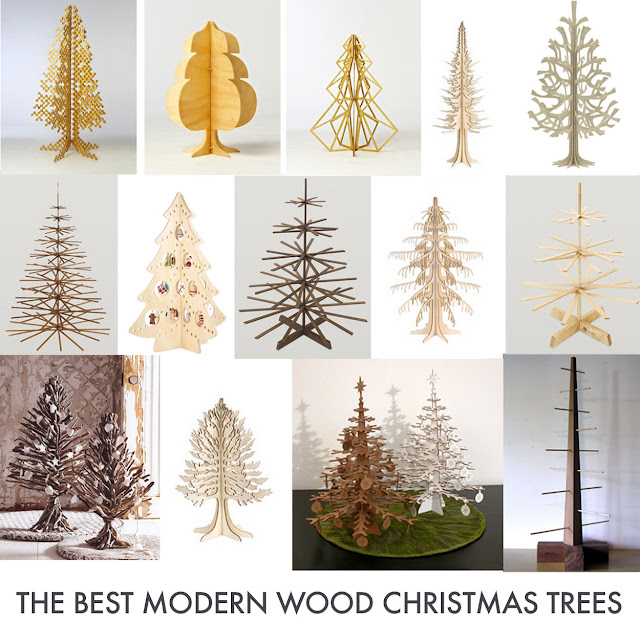 the top modern wood christmas trees for 2009 updated for 2011 - Wooden Christmas Tree