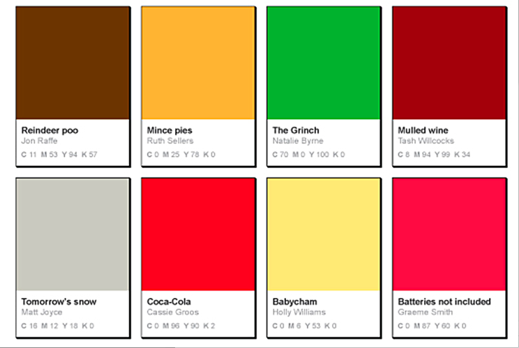 Pantone Inspired Christmas Posters Cards Christmas By