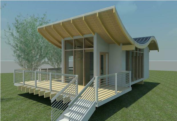 Daily update interior house design a modern bamboo solar for Small solar home plans