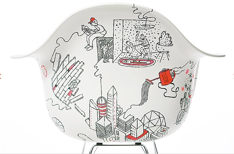 5 Artist Painted Eames Rockers Are The Bait In Herman Miller's Design For You Contest