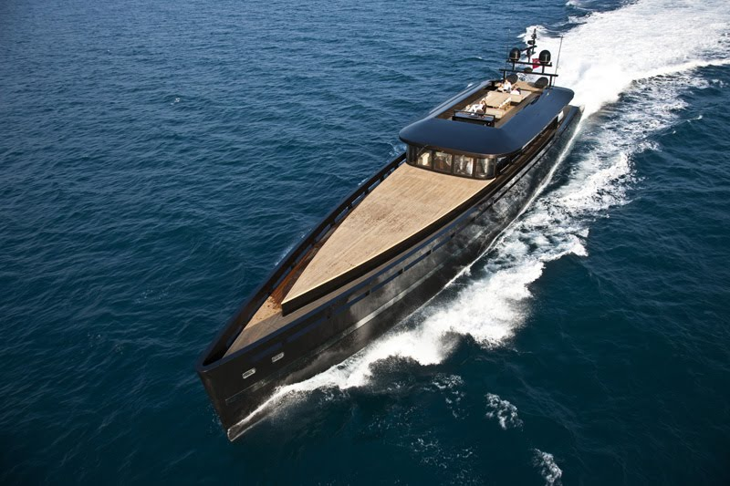 H2ome yacht has a sleek profile modern interiors and a 20 million