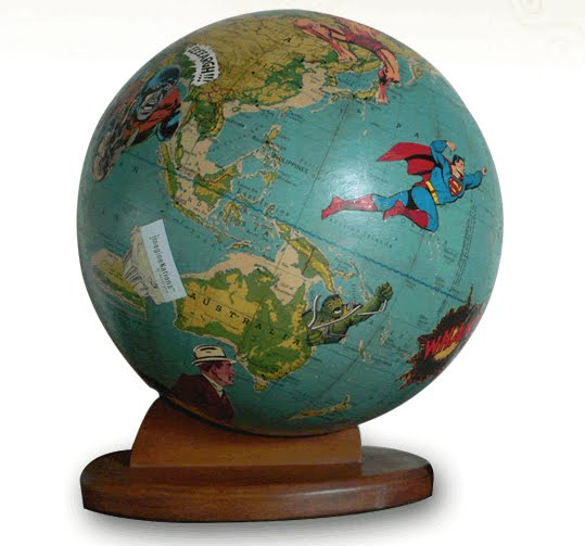 Vintage globes get fun face lifts by wendy gold if its hip wild world globe gumiabroncs Gallery