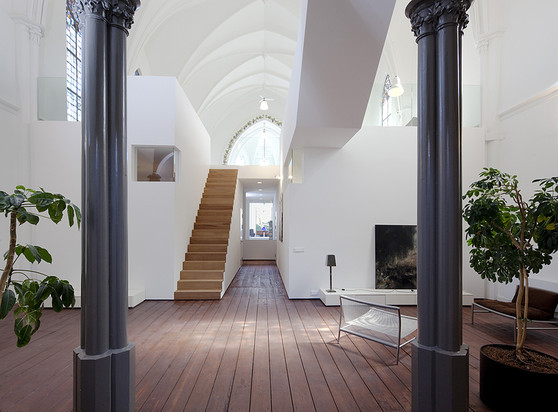 Modern Gothic Living Room With Tv