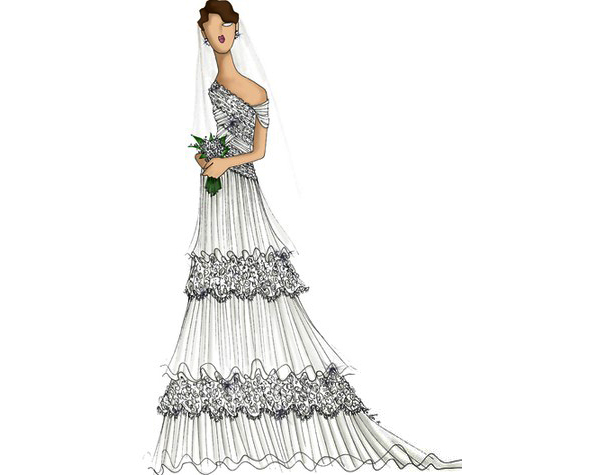 29 famous fashion designers sketch wedding gowns for kate