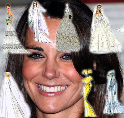 kate middleton wedding dress sketches. kate middleton dress sketches.