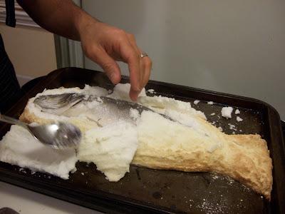 Baked branzino recipe
