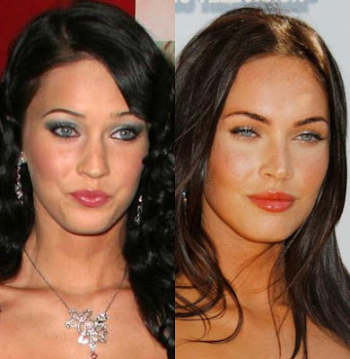 megan fox before and after plastic. Megan Fox after plastic