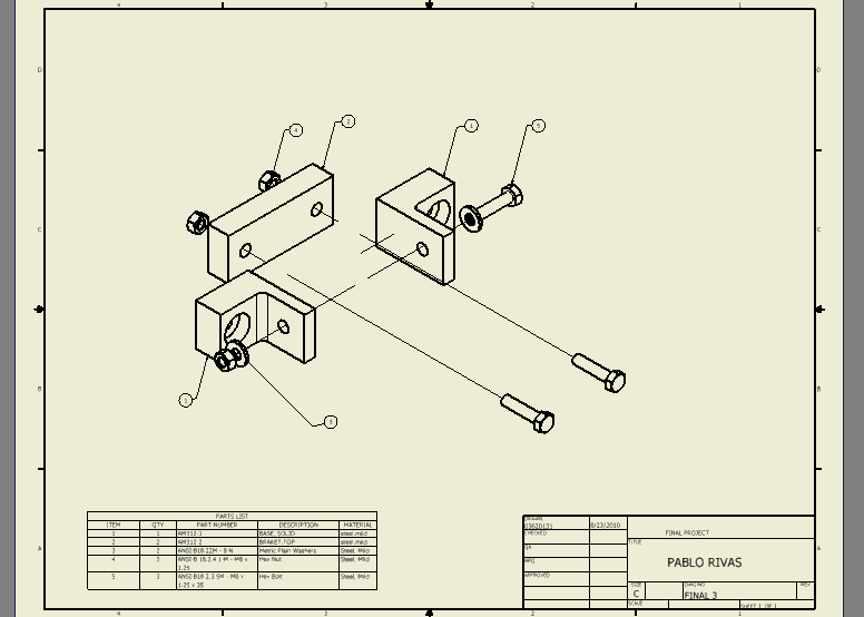 This One Was Made In My Class Of CD250 Engineering Graphic Drawing With The Program Inventor Is Much Easy To Use Then Auto Cad