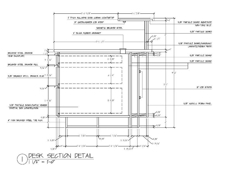 Reception Desk Section Detail