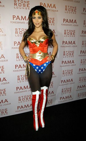 Kardashian  Woman on Ladies Fashion Style  Kim Kardashian Wonder Woman Halloween Costume