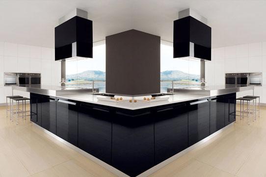 Black And White Modern Italian Kitchen Design
