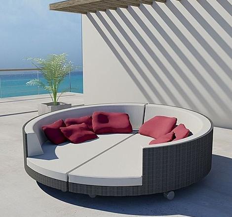 Brighton Beach Modern Island Sunbed