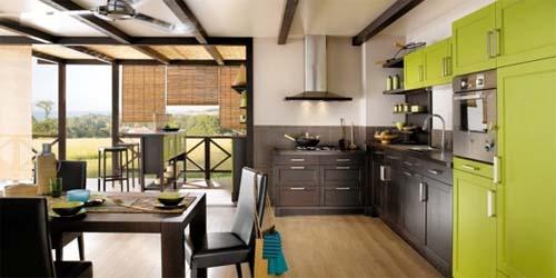 Interior Green Kitchen Design by Mint Value Kitchens  Home Design