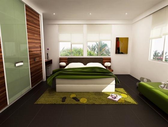Brighton Beach Green Color Bedrooms Design Ideas Trend 2012