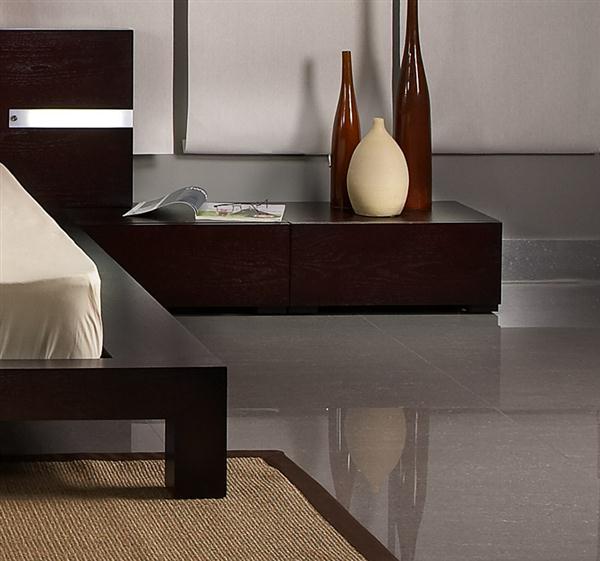 Brighton beach ultra modern monroe platform queen bed for Ultra modern furniture