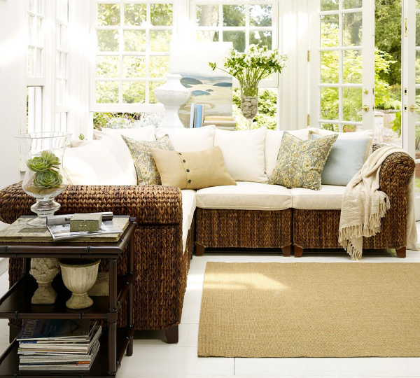 ideas decorating and design seagrass sectional sofa furniture design