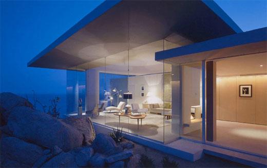 ... House Garden: Contemporary Minimalist Beach House Interior Design 2011
