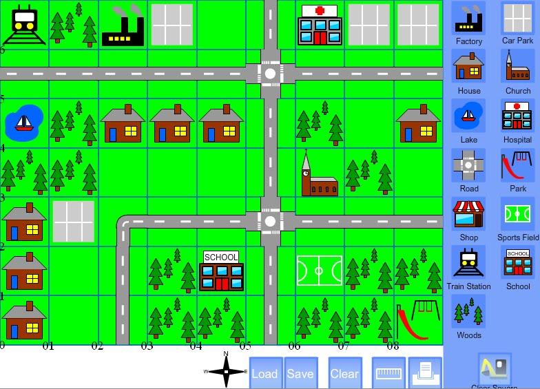 Risultati immagini per clipart mappa/percorso cittadino per bambini