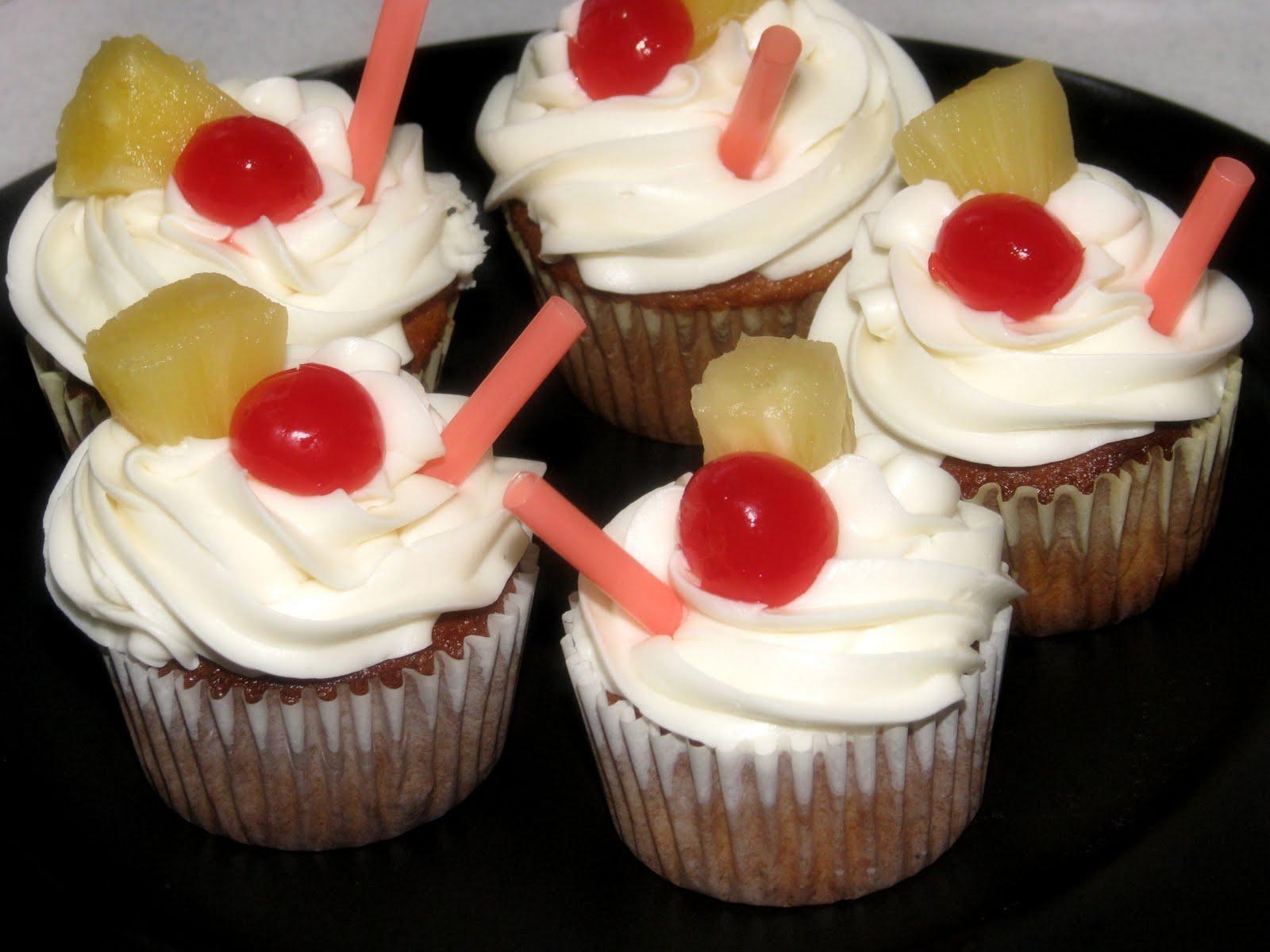 Pina Colada Cupcakes - Big Bear's Wife