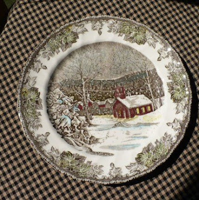 Save & Fall Decorating with Johnson Brotheru0027s Friendly Village Plates - A ...