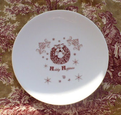rub on transfer on a white plate