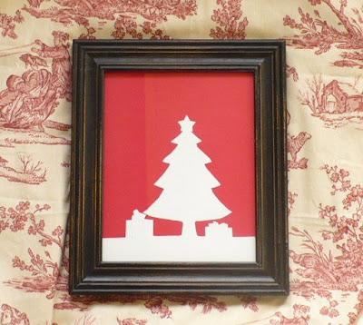 DIY Christmas Silhouette