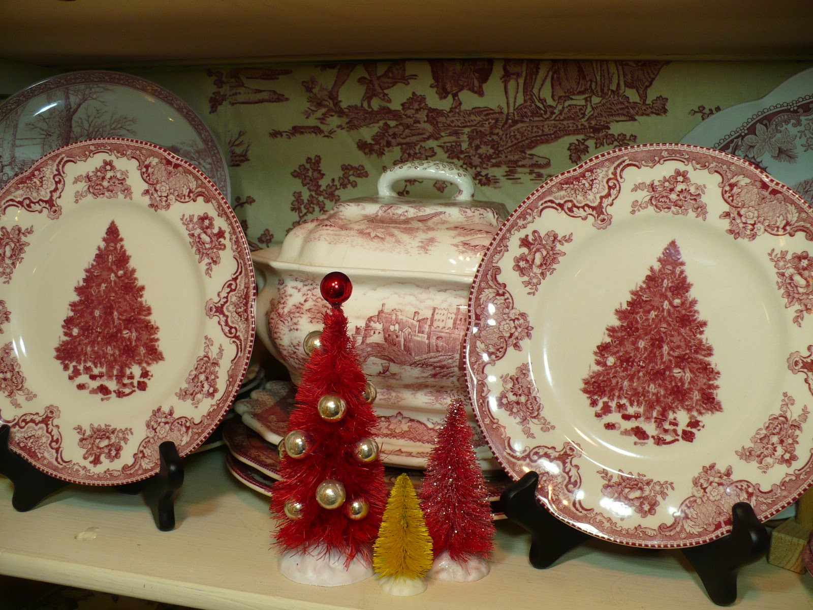 A Christmas China Cabinet - A Cultivated Nest