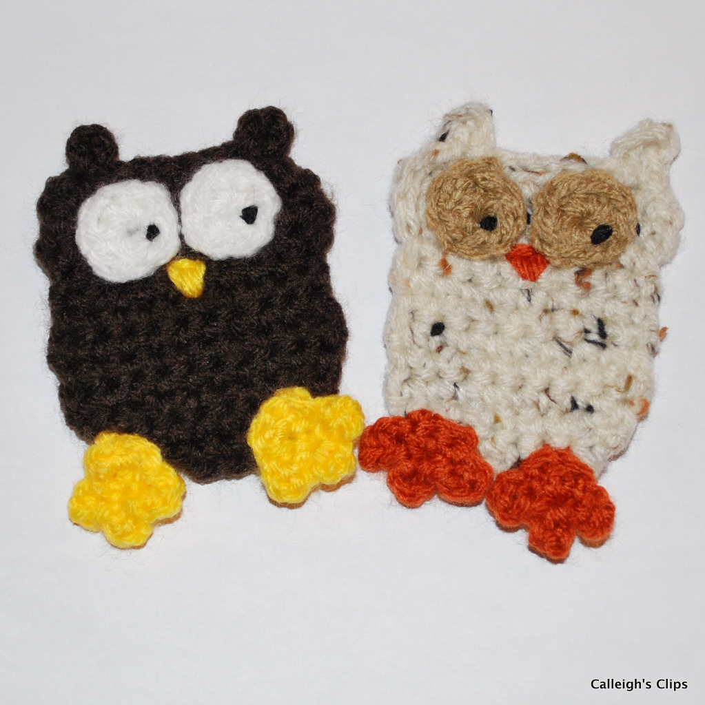 Crochet Patterns Free Owl : Calleighs Clips & Crochet Creations: Owl Applique Crochet ...