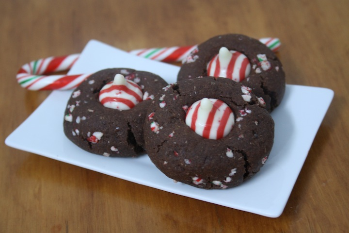 Is it Christmas Yet? Candy Cane Kisses Chocolate Cookies