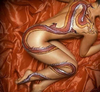 sexy girl dragon tattoo