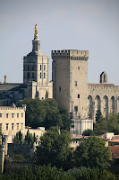 Photograph of the Palais des Papes, Avignon, France.