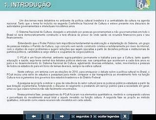 Pesquisa Investimento do Poder Público Estadual Brasileiro na Cultura