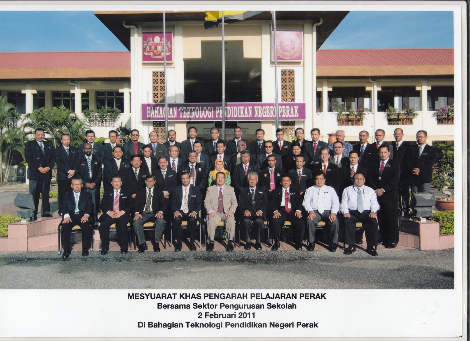 Buletin Btpn Perak Mesyuarat Khas Pengurusan Sekolah Jabatan Pelajaran Perak