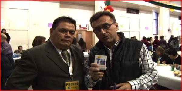 Mario Ramos y el parroco Jose Arruda de la mision nuestra senora de Avila