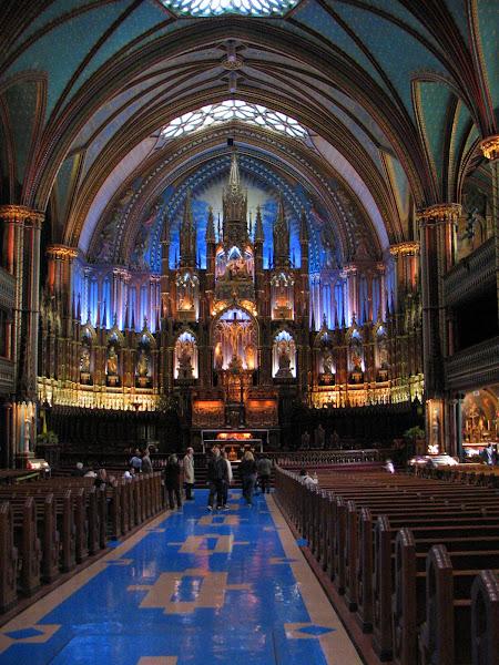 Basilica de Notre Dame en montreal (interior)